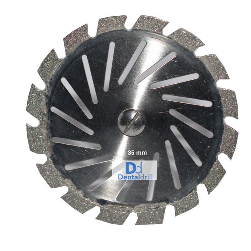 Dentaldrill | Disque diamanté - Double face, bord diamanté, denté, percé |  25,00€ | Taurus